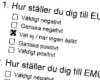 Klicka för att läsa 'Svenskar svalt inställda till EU-utvidgning, EMU, svenskt NATO-medlemsskap, världssvält, krig...'